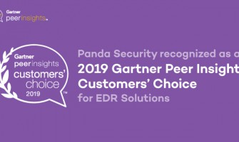 Panda Security is recognized as a 2019 Gartner Peer Insights Customers' Choice for EDR Solutions.