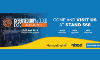 QBS Distribution exhibits at the Cyber Security & Cloud Expo alongside with ManageEngine