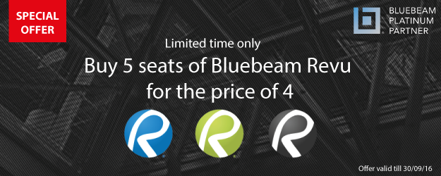 Bluebeam Revu Special Offer - Buy 5 for the price of 4