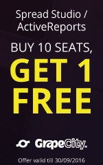 Buy 10 Spread Studio or ActiveReports seats and get 1 free | Grapecity Offer