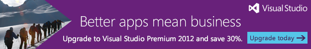 Microsoft Visual Studio Upgrade promotion
